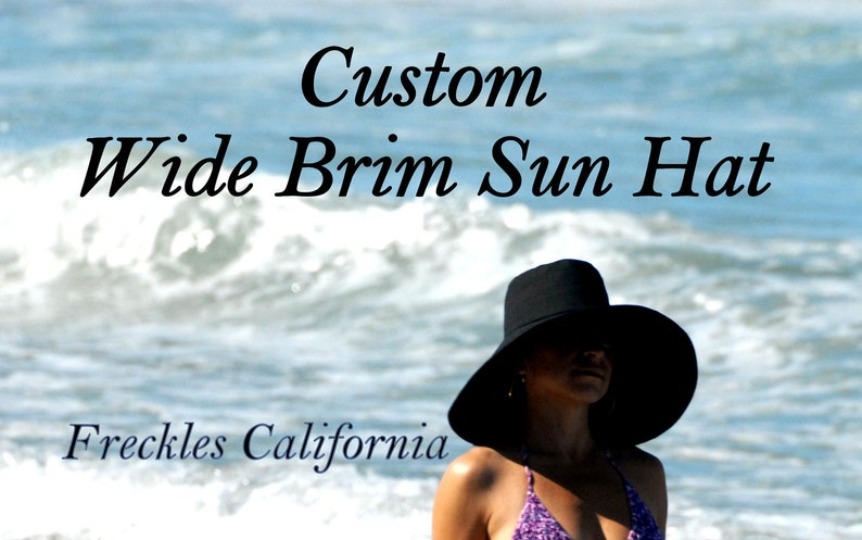Extra Large Sun Hat Made to Order Wide Brim hat Select Color  df72ab993574