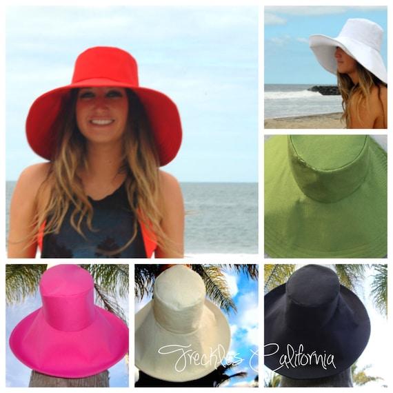 Custom Sun Hat Wide Brim Sun Hat Many Colors To Choose From  d1b3ef93e76