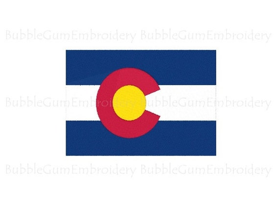 Colorado State Flag Machine Embroidery Design Digital Instant Download US State Flags United States of America USA Hoop Size 4x4 in