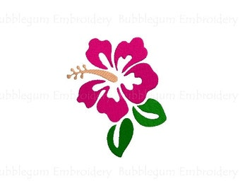 Hibiscus Flower v2 Embroidery Design Instant Download