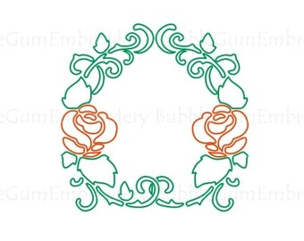 Redwork Roses Embroidery Designs Instant Download