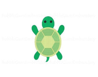 Turtle Embroidery Design Instant Download
