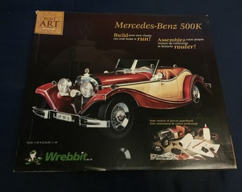 Vintage Mercedes-Benz 3D Puzzle Model Pre-cut Paperboard New In Box 1990s Fun Car Automobile by Wrebbit
