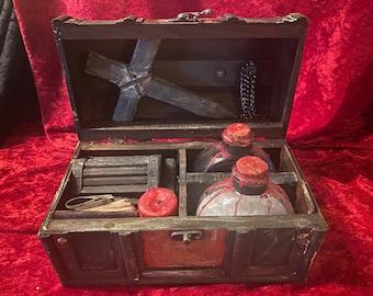 Vampire Killing Kit NOMI, Original by artist CRYSTOBAL, Slayer Hunter Kit Goth Buffy Dracula Halloween Vampyre with Cross Stake