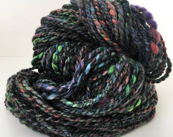 """Handspun Yarn -- """"Totally Awesome 80s"""" -- 84 yards bulky weight"""