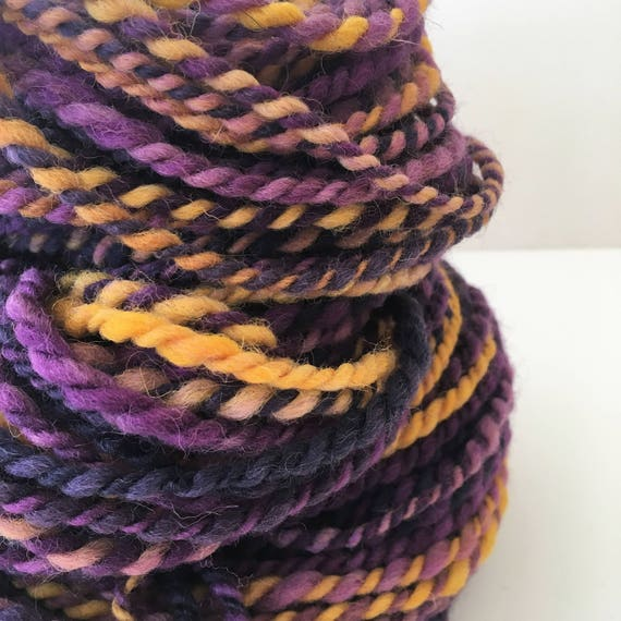 Pink Zebra Hand Spun Alpaca 28 Yards Single Ply Yarn Knit Weave Crochet