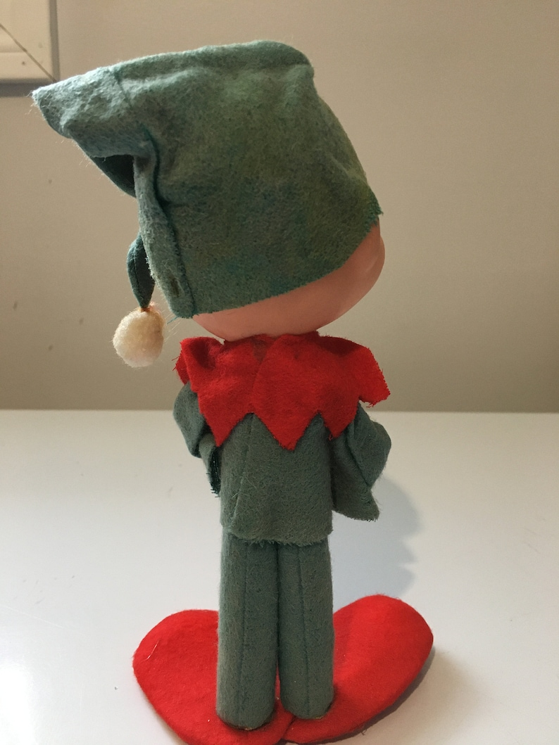 Vintage Christmas Elf Standing 8 inches or 20 CM  Tall