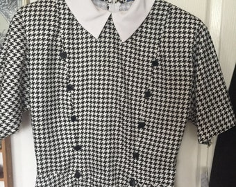 1f802a571 Peter Pan Collar Checkered Dress