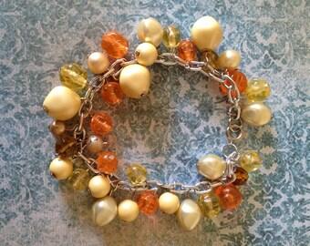 Vintage Orange and Yellow bracelet