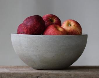 """Large Concrete Fruit Bowl 10"""""""