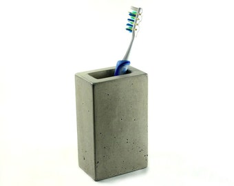 Concrete Pencil  Toothbrush Holder