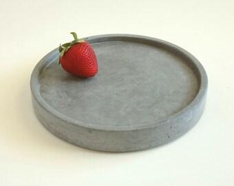 Round Concrete Tray, Concrete Valet Tray