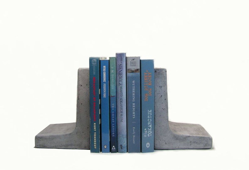 Modern Concrete Bookends image 0