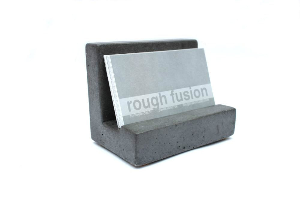 Sale concrete business card holder etsy zoom reheart Choice Image
