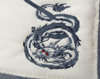 Year of the Dragon Embellished Chinese Zodiac Tote ~ Handmade on Maui