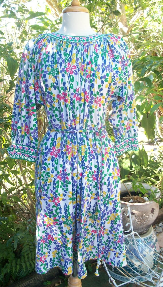 70s AVERARDO BESSI--Print Cotton Dress--Lady Be Go