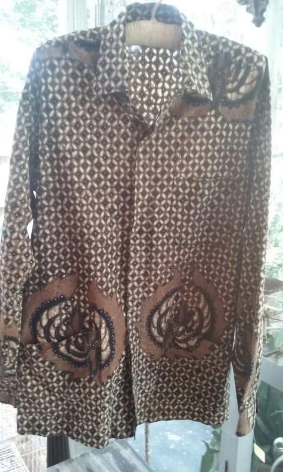 50s MELAWAL--Made in Jakarta--Men's Batik Shirt--C