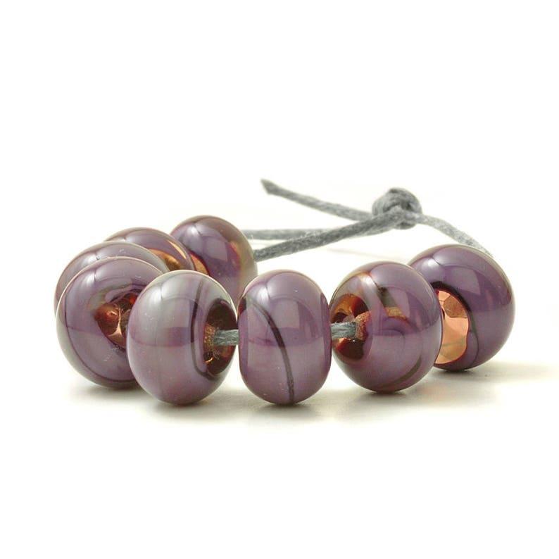 Purple Lampwork Beads Violet Lampwork Bead Set Purple Beads Artisan beads UK SRA