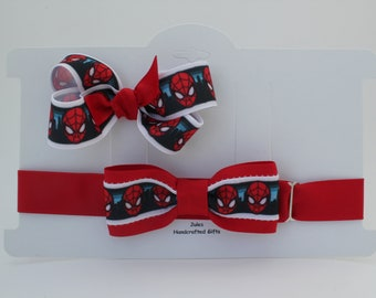 Matching Bow Tie and Hair Bow