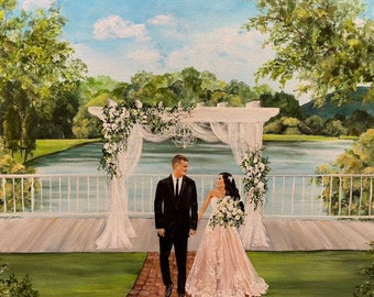 Live Wedding Painting, Live Event Painter, Live Wedding Painter,Wedding Artist,Wedding Trends,Weddings,Gift for Bride,Virginia Weddings