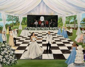 Live Wedding Painter,Live Wedding Painting,Wedding Trends,Wedding Art,Reception Ideas,Live Event Art,Wedding Gift,Live Painter,Wedding Ideas