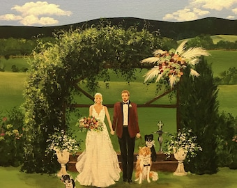 Live Wedding Painting,Wedding Painter, Unique Wedding Gift, Live Event Painter, Wedding Artist, Live Event Wedding Painter,Wedding Art