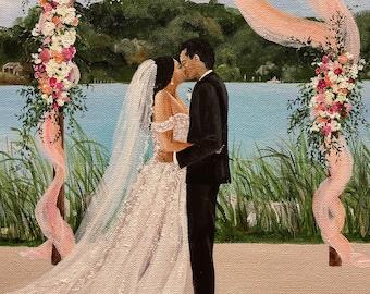 Live Wedding Painting, Live Event Painter, Wedding Trends, Live Wedding Painter, Wedding Art,Wedding Artist,Cheri Miller Bridal
