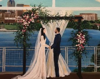 Live Wedding Painting, Live Wedding Painter,Unique Wedding Ideas,Nashville Wedding,Wedding Artist,Live Event Art,Wedding Gift,EventPainter