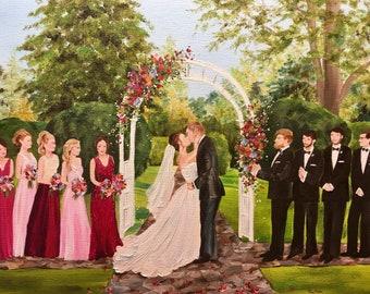 Live Wedding Painting,Unique Wedding Gift,Live Event Painter,Wedding Artist, Virginia Wedding,Wedding Painter,Wedding Art,Live Painter