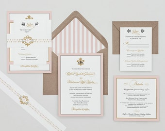 Items similar to Fleur de Lis Wedding Invitations on Etsy