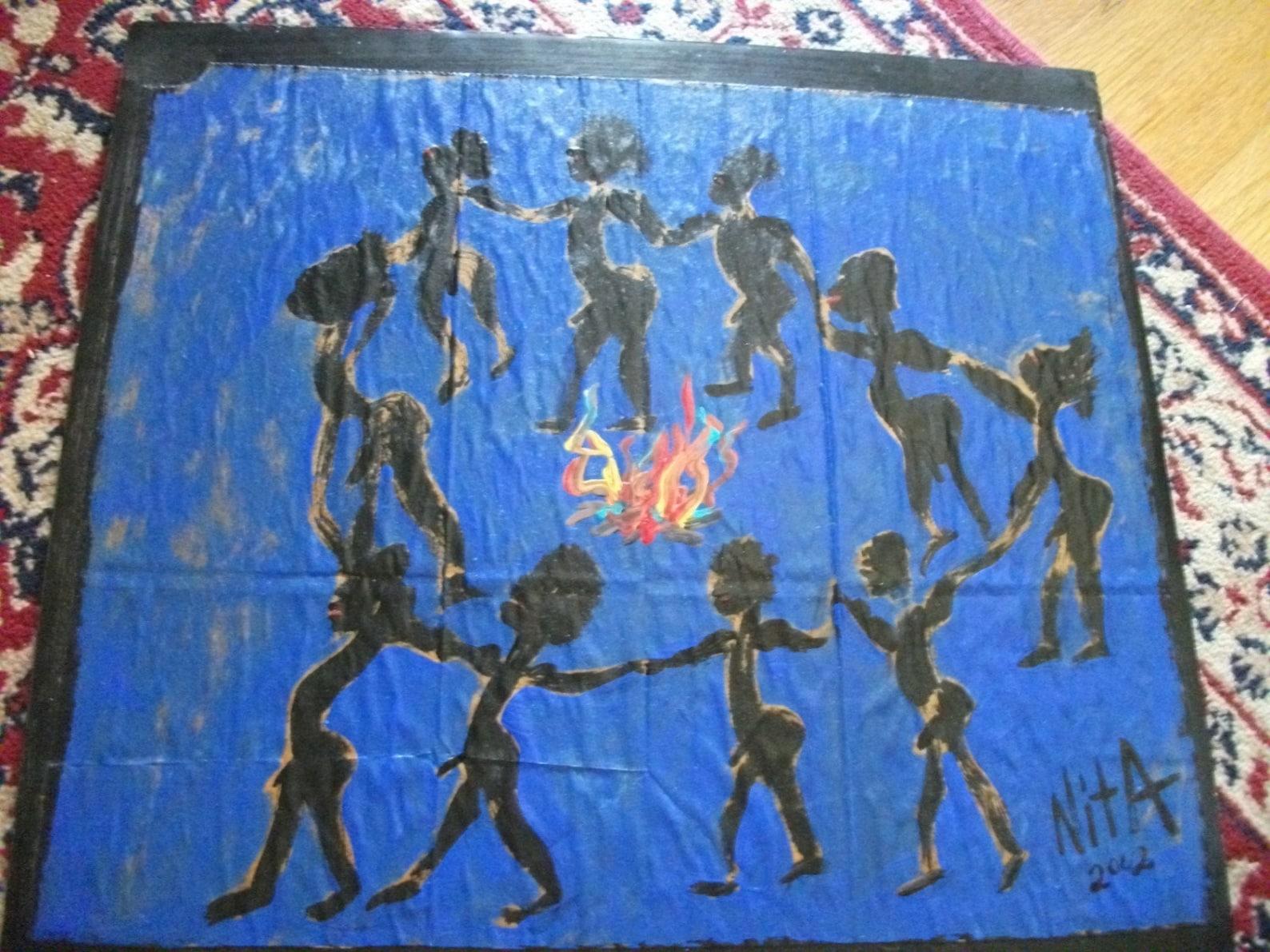 Nackte Männer tanzen original-Gemälde von nita ou la la | Etsy