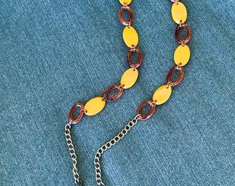 6db034e9716e Bakelite Disc Linked Belt Adjustable Chain Link Belt Original Vintage 1940