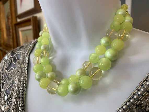 Vintage Moonstone Beaded Double Strand Necklace P… - image 6