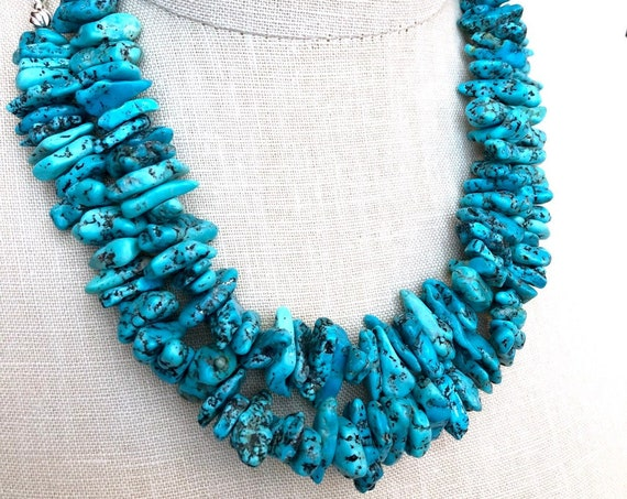 Kingman Turquoise Sterling Silver Necklace Select your Length