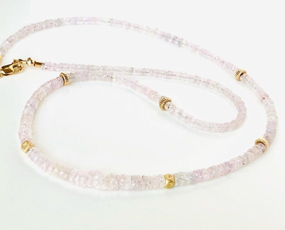 Sweet Dreams Pink Sapphire and Gold Necklace