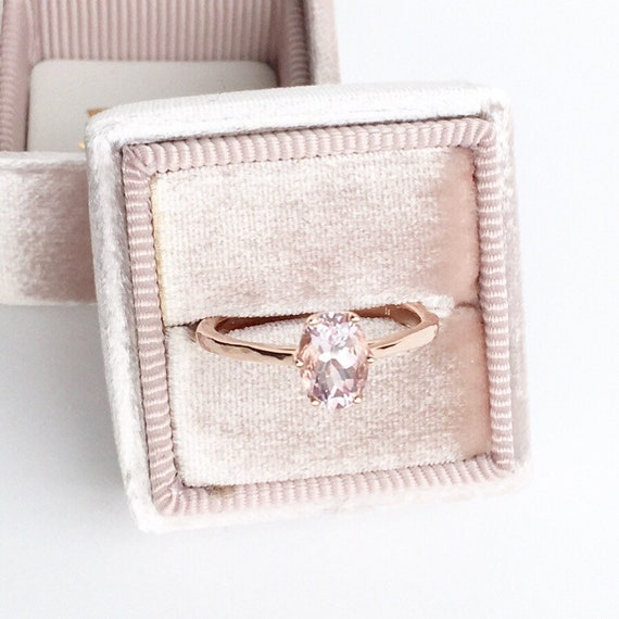 Morganite Rose Gold Crown Style Engagement Ring Textured Band