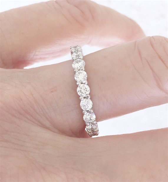 Two Carat Diamond Eternity Band 14k White