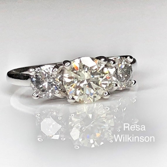Three Diamond VS2 Certified 1.74 carat Engagement Ring