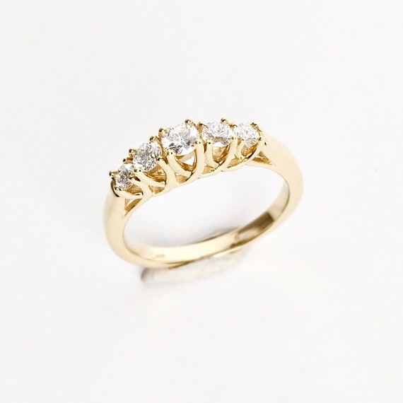 Diamond Anniversary Band One Half Carat 14k Yellow