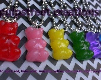 Realistic  Handmade Gummy Bear Necklace Resin Pendant Super Cute