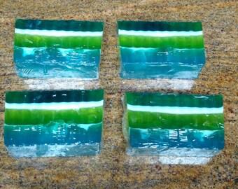 Homemade spearmint soap pack