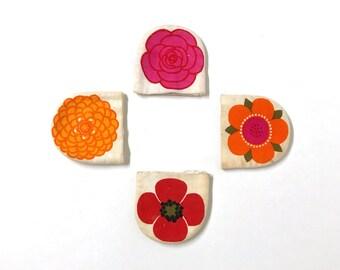 LAURIDS LONBORG     Lena Eklund     EGG Cosies     Set 4     Flowers     Denmark     60s     Cute