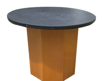 HARVEY PROBBER   Fred Kemp   SLATE Octagonal Side Table   Mid-Century