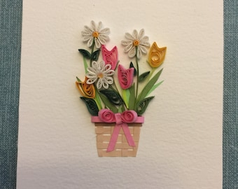 Spring Bouquet Quilling Postcard
