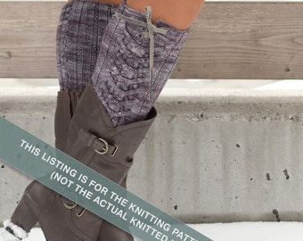 Jax - One Skein boot toppers Knitting Pattern