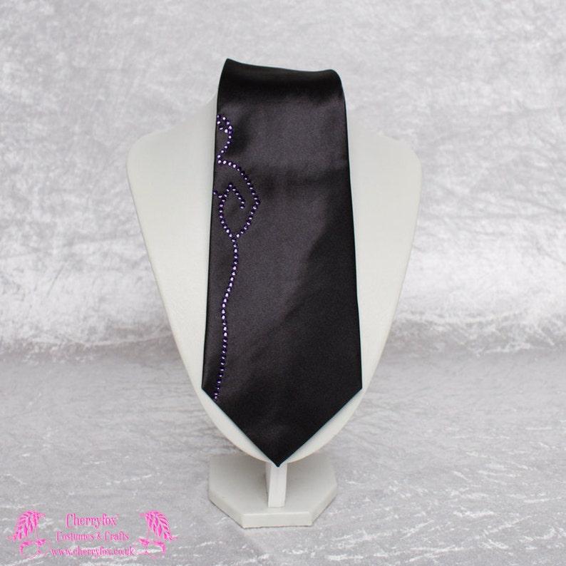 68c5e512fb6a Lady Crystal Tie Red Blue Purple White Swarovski Black