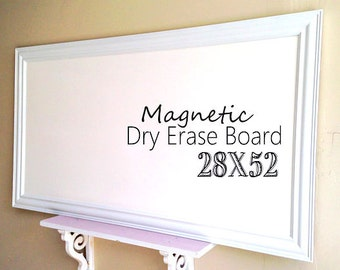 WALL ORGANIZER Framed Dry Erase Board For Sale Bulletin Board Magnet Large  Dry Erase Board Huge Whiteboard Office Kitchen Organizer Modern