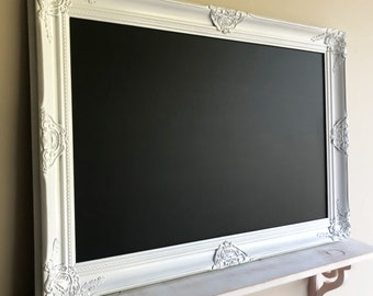 More Colors. WHITE Framed Chalkboard Narrow Kitchen ...