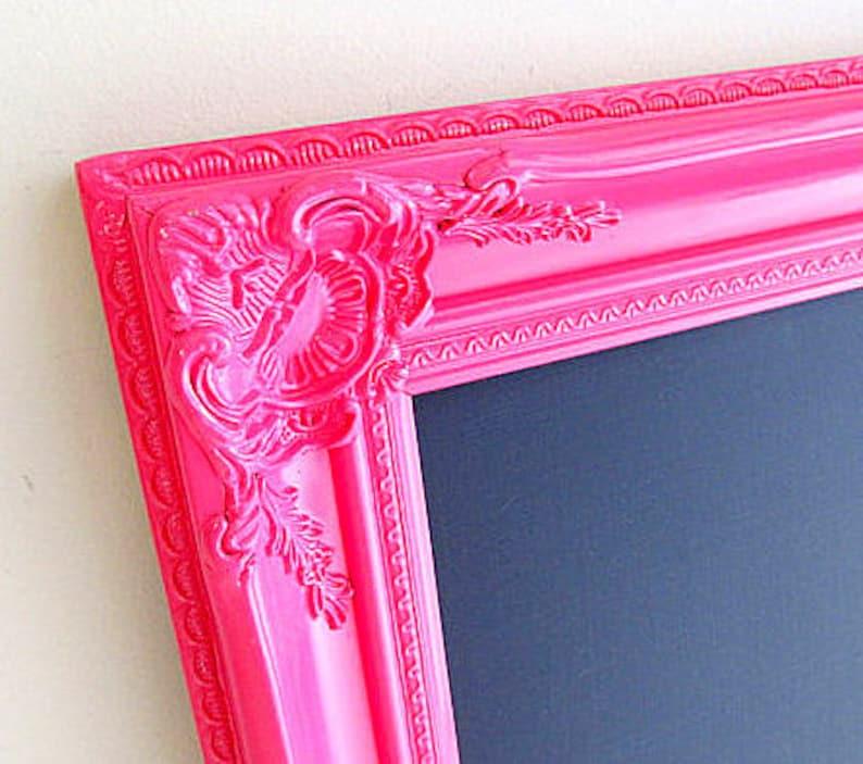 girls room decor pink chalkboard hot pink wall decor teenage etsyHot Girls Room #17