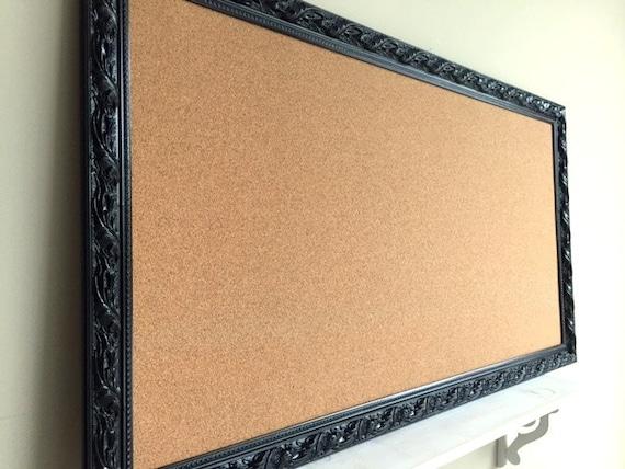 Jewelry Organizer Wall Cork Board Black Corkboard Pinboard Etsy
